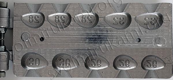 Картинка форма для грузила эксцентрик